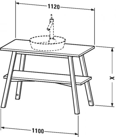 duravit cape code waschtischunterbau stehend 1120 x 570 mm cc95320. Black Bedroom Furniture Sets. Home Design Ideas