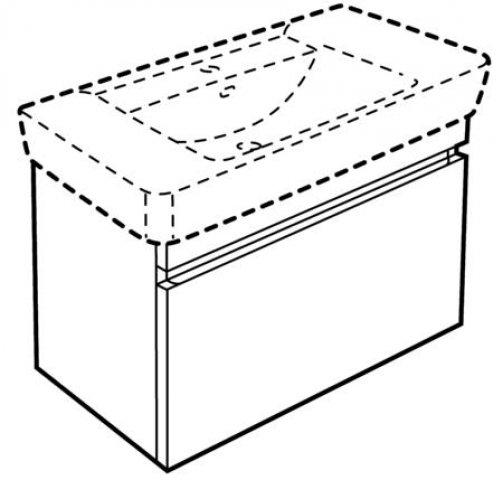 keramag renova nr 1 plan waschtischunterschrank 869100. Black Bedroom Furniture Sets. Home Design Ideas