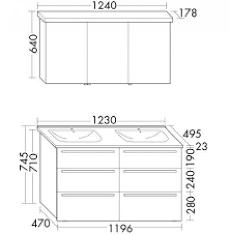 burgbad essento set bestehend aus u a keramik doppelwaschtisch. Black Bedroom Furniture Sets. Home Design Ideas
