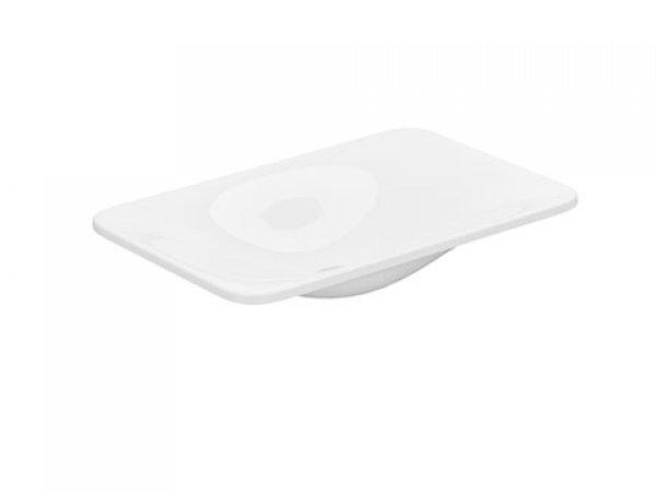 Keuco Edition 400 Keramikwaschtisch 31570, ohne Hahnlochbohrung, weiß, 600x75x400mm