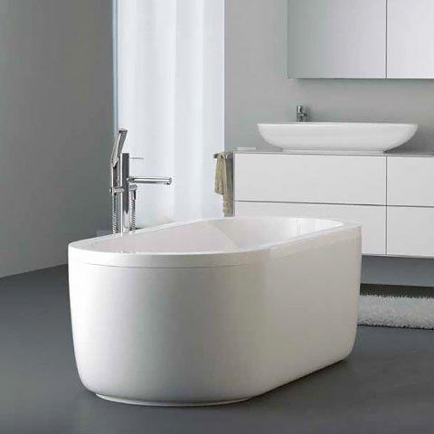 Koralle t200 freistehende badewanne oval weiss - Freistehende badewanne bilder ...