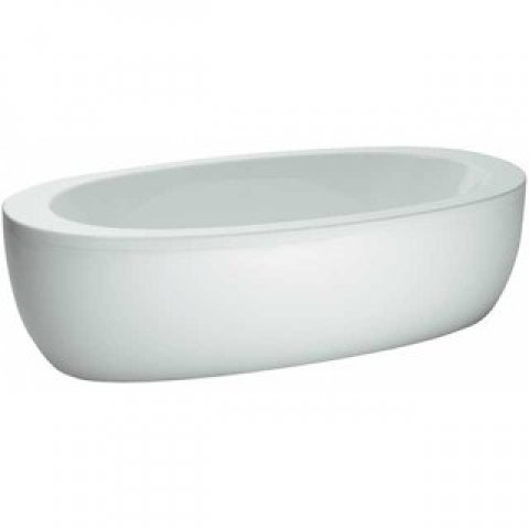 Running bathtub acrylic freestanding Il Bagno Alessi one 2030x1020x460mm, incl. apron, incl. pedestal, white