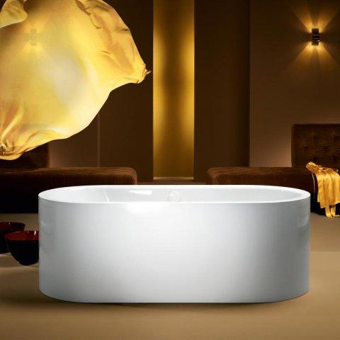 Kaldewei Meisterstück Centro Duo Oval, freistehende Badewanne 1127,  170x75x47 cm, alpinweiß