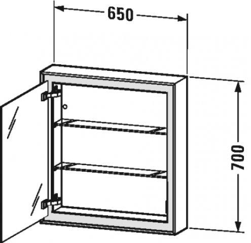 duravit l cube spiegelschrank mit led beleuchtung anschlag links 65cm. Black Bedroom Furniture Sets. Home Design Ideas