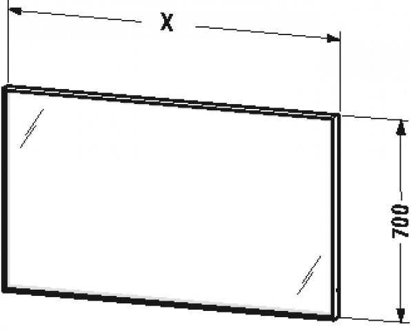 duravit l cube spiegel mit beleuchtung breite 450mm tiefe67mm mitled. Black Bedroom Furniture Sets. Home Design Ideas