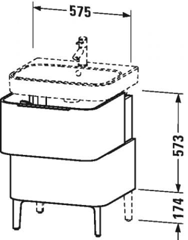 Duravit Happy D.2 Waschtischunterschrank stehend H26373, 775mm | {Waschtischunterschrank stehend 63}