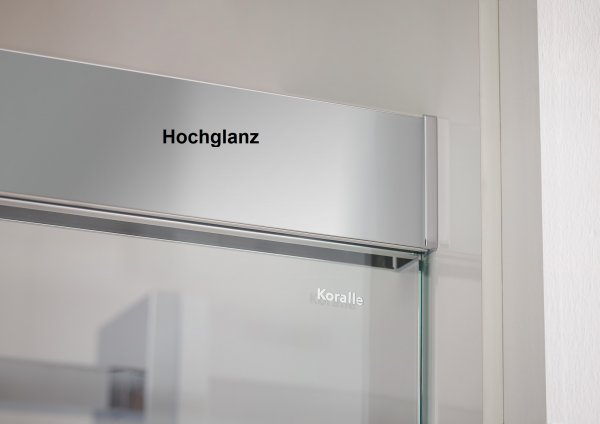 Koralle S600Plus Sliding door in niche DSN2 180 R, fixed element right, 1800mm