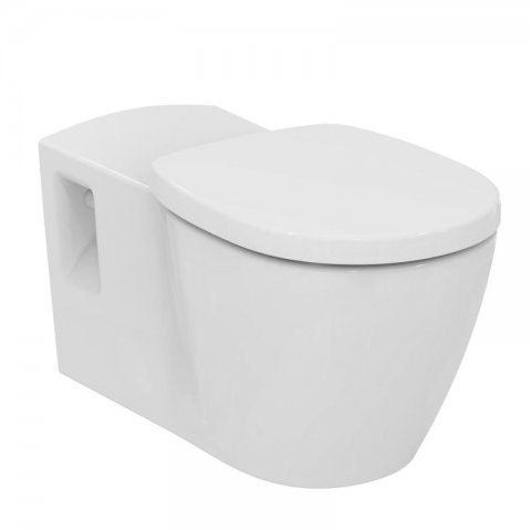 Ideal Standard Connect Freedom Wandtiefspülklosett barrierefrei, E8194, Farbe: Weiß mit Ideal Plus