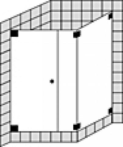 Sprinz Omega Maßanfertigung Eckdusche mit Pendeltür o. Tür mit Seitenteil inkl. Seitenwand O17.0, Maße bis: 1000x1000x2000mm, Duschkabinen: Beschlagteile: Sonderoberfläche, Glasart: Kristall hell mit SpriClean