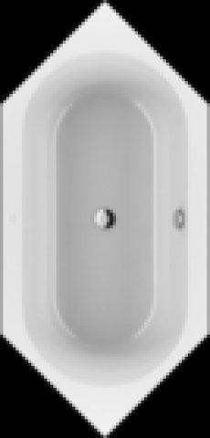 Villeroy und Boch Badewanne Acryl Sechseck LOOP & Friends Oval Duo, UBA199LFO6V 1900x900mm, ovale Innenform, Farbe: weiß-alpin