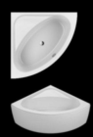 Villeroy und Boch Badewanne Acryl Eckwanne LOOP & Friends Oval Duo, UBA140LFO3V 1400x1400mm, ovale Innenform, Farbe: weiß-alpin