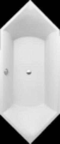Villeroy und Boch Badewanne Quaryl Sechseck Squaro Duo, UBQ190SQR6V 1900x800mm, inkl. Wannenfüße, Farbe: weiß-alpin