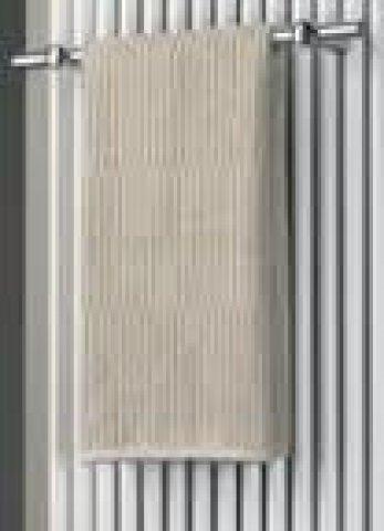 HSK Handtuchhalter einzeln, passend zu Twin Designheizkörper, verchromt, Länge 600 mm, Farbe: Weiß