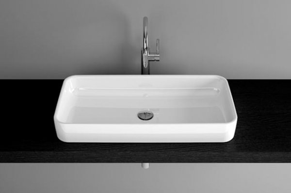 Bette Art Countertop wash basin without tap hole, A182 800 x 400 mm