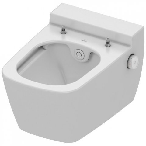 TECEone WC ceramics, flush-less, with shower function, white