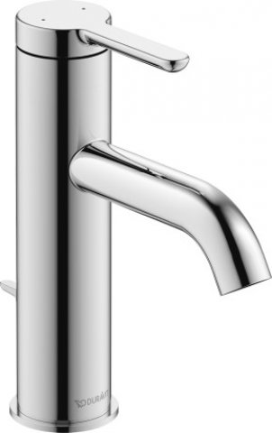 Duravit C.1 Single lever washbasin mixer M, with pop-up waste, 113mm projection