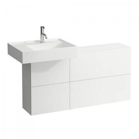 Laufen Kartell Vanity unit with cut-out left, 1200x270x610 mm, 1 door, 2 flaps