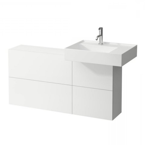 Laufen Kartell Vanity unit with cut-out right, 1 door, 2 flaps, washbasin right, 1200x270x610 mm