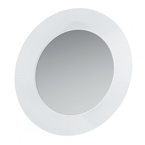 Running cartel mirror with indirect LED lighting for transparent mirrors