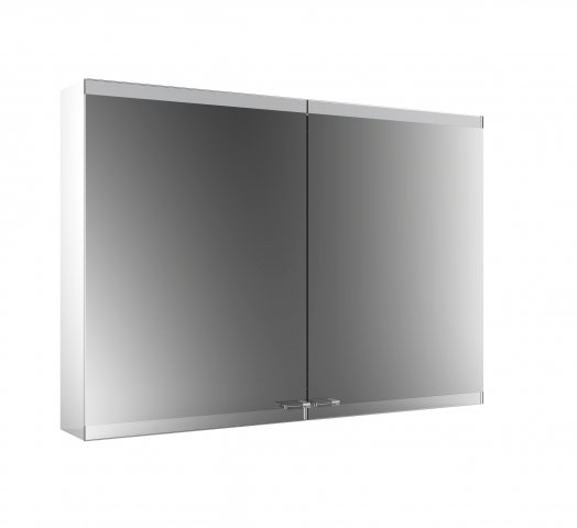 Emco asis evo Light mirror cabinet, surface mounted model, 2 doors, 1000 mm
