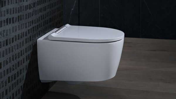 Geberit One wall-mounted WC flusher wall-mounted, TurboFlush, with WC seat with soft-closing mechanism