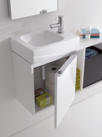 Keramag Icon Xs Handwasbakonderkast 840837 370x420x280mm Alpine Hoogglans