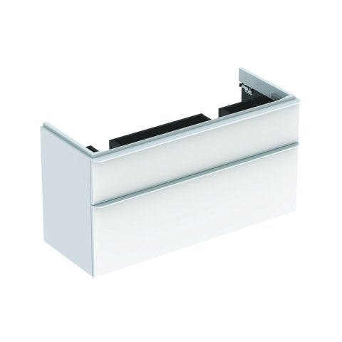 Geberit Smyle Square Vanity unit for double wash basin, 500356, 1184x617x470mm, with 2 drawers