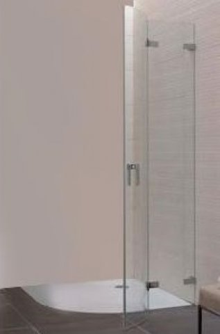 Coral quarter circle shower swing door with fixed panel - half part S700 VPFS radius 520 right 100 957-977x1950mm