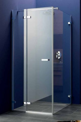 Koralle swing door with fixed panel for partition wall S700 TPFA left 90 857-877x1950mm