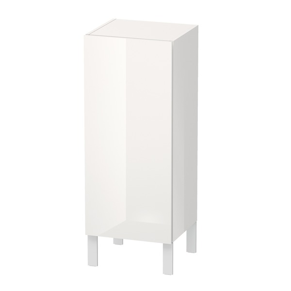 Duravit L-Cube Half high cabinet individual 1 door, 2 glass shelves, right-hinged, height min. 600 mm - max. 900 mm, width min. 250 mm - max. 500 mm, depth min. 200 mm - max. 363 mm