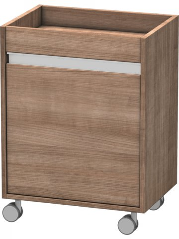 Duravit Ketho mobile pedestal 2530, 1 wooden door, stop right, 500mm