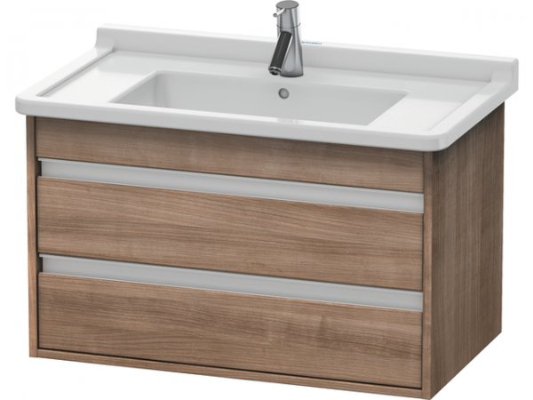 Duravit Ketho vanity unit wall hung 6644, 2 drawers, 800mm, for Starck 3