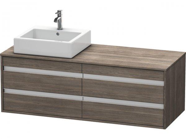 duravit ketho waschtischunterschrank wandh ngend 6657 f r 1 aufsatzbecken links. Black Bedroom Furniture Sets. Home Design Ideas