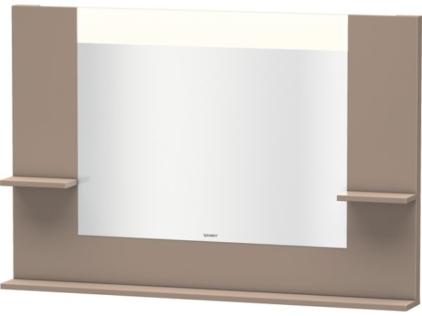 Duravit Vero mirror with shelves left/right and bottom, 7352, 1200mm