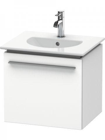 Duravit X-Large Waschtischunterschrank wandhängend 6060, 1 Auszug, 500mm für Darling New, Farbe (Front/Korpus): Weiß Hochglanz Lack