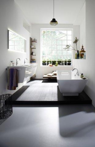 burgbad cala neu leuchtspiegel mit beleuchtung breite 1400 mm. Black Bedroom Furniture Sets. Home Design Ideas