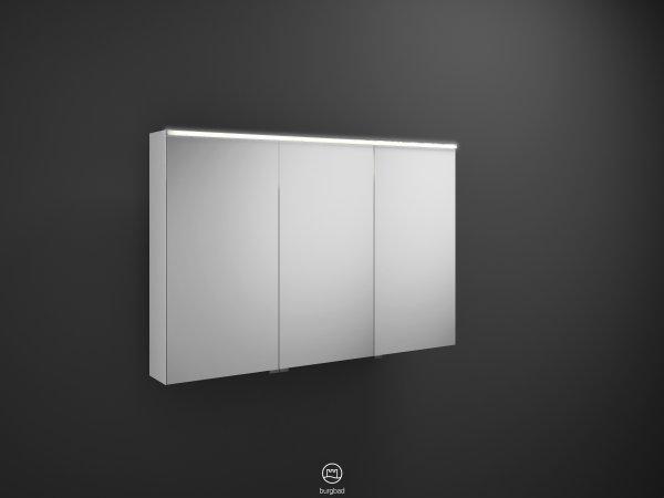 burgbad eqio spiegelschrank mit horizontaler led beleuchtung l 1200mm. Black Bedroom Furniture Sets. Home Design Ideas