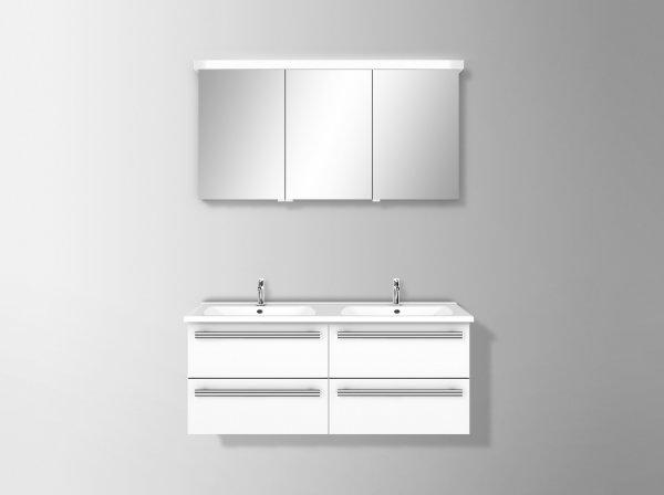 burgbad essento spiegelschrank mit led beleuchtung breite 1240 mm. Black Bedroom Furniture Sets. Home Design Ideas