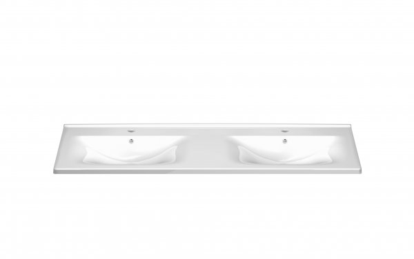 Burgbad Essento ceramic double washbasin including vanity unit with 2 drawers and 2 pull-outs, width 1230 mm