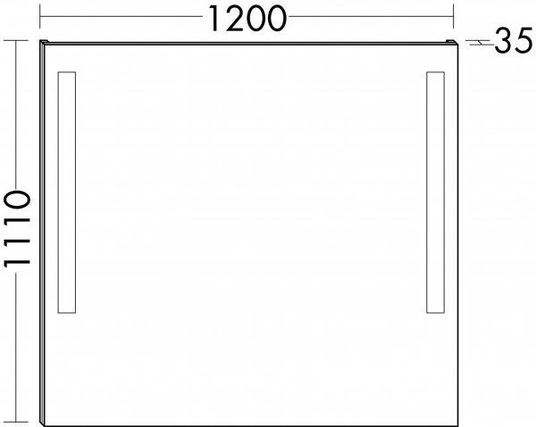 burgbad cala lichtspiegel breite 1200mm. Black Bedroom Furniture Sets. Home Design Ideas