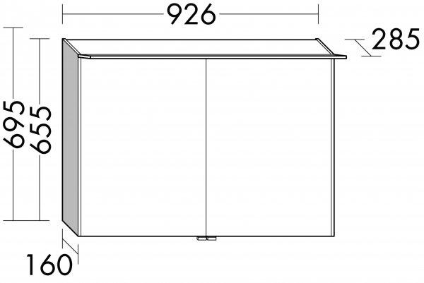 burgbad cala neu spiegelschrank mit beleuchtung breite 926 mm sepy093. Black Bedroom Furniture Sets. Home Design Ideas