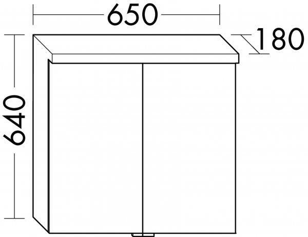 burgbad oteo spiegelschrank inkl led waschtischbeleuchtung 650mm. Black Bedroom Furniture Sets. Home Design Ideas