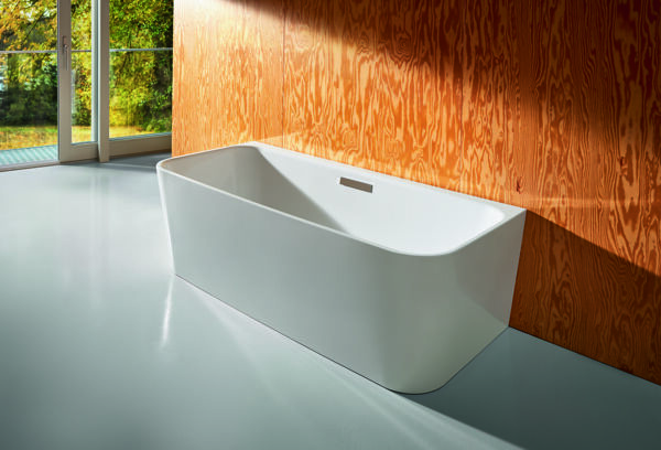 Bed type bathtub free-standing, 180x75cm, 2 back inclines, 3480 CFXXK