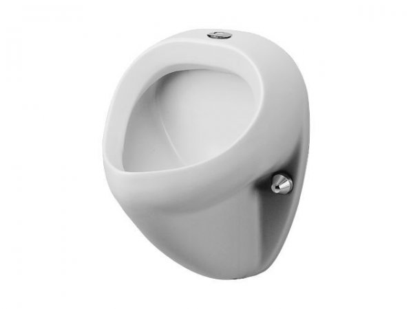 Duravit Urinal Jim, suction inlet from above, without lid, white