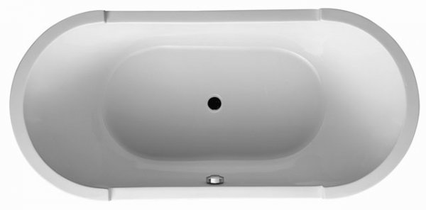 Duravit Starck oval bathtub 190x90cm, two sloping backs, 700011, built-in version