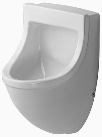Duravit Urinal Starck 3, inlet from behind, suction, without lid, white