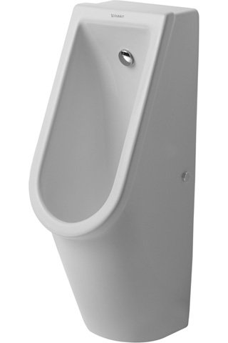 Duravit Urinal Starck 3, inlet from rear, including flushing nozzle