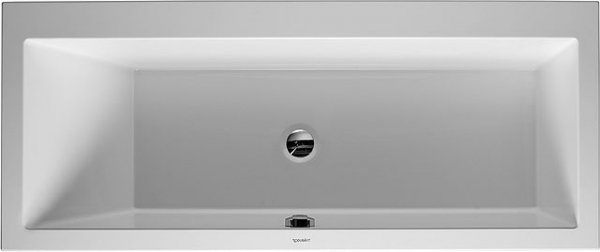 Duravit bathtub Vero 190x90cm, two sloping backs, 700136, built-in version