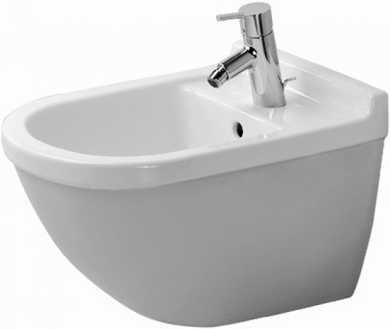 duravit wandbidet starck 3 540mm mit berlauf mit. Black Bedroom Furniture Sets. Home Design Ideas