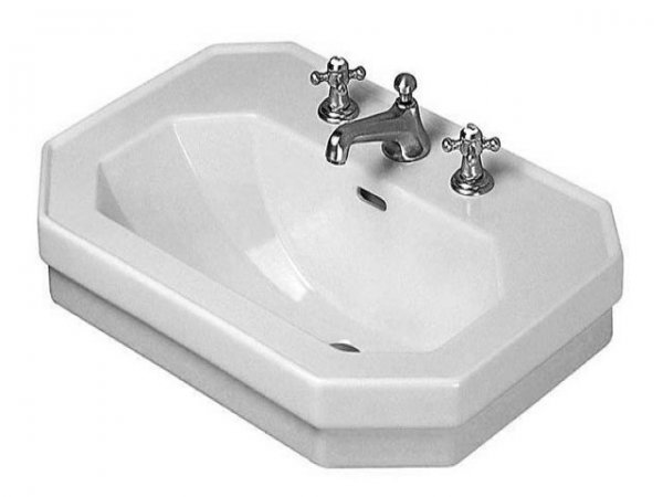 Duravit 1930 washbasin, 80x55cm, with 3 tap holes